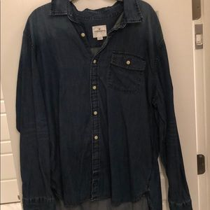 American Eagle denim button down.